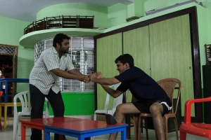 Sarvesh and Praveen, fighting it out